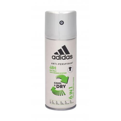 Adidas 6in1 Cool & Dry 48h 150 ml antiperspirant deospray pre mužov
