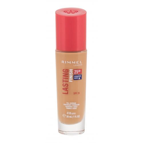 Rimmel London Lasting Finish 25H SPF20 30 ml dlhotrvácny make-up pre ženy 410 Latte