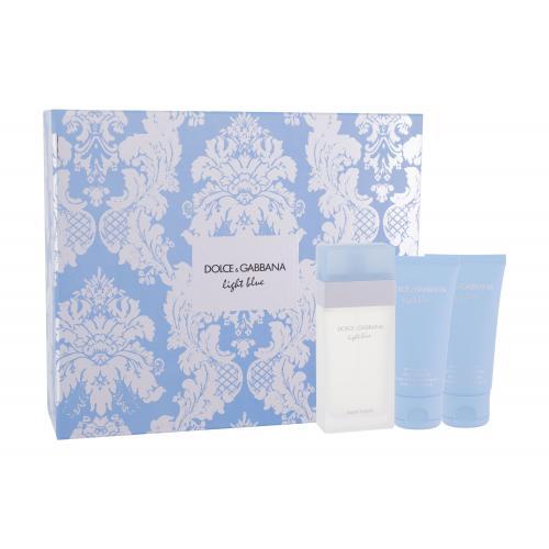 Dolce&Gabbana Light Blue darčeková kazeta pre ženy Edt 50ml + 50ml tělový krém + 50ml sprchový gel