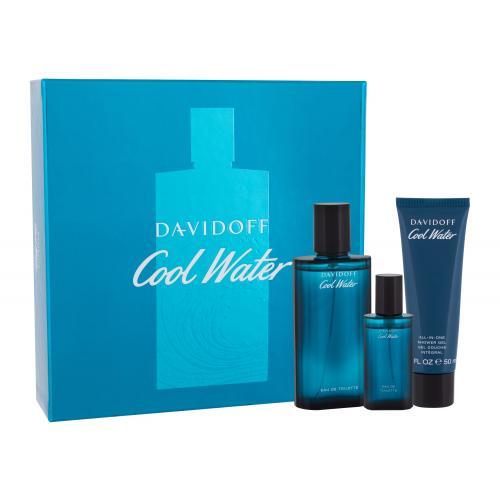 Davidoff Cool Water darčeková kazeta pre mužov toaletná voda 75 ml + sprchovací gél 50 ml + toaletná voda 15 ml