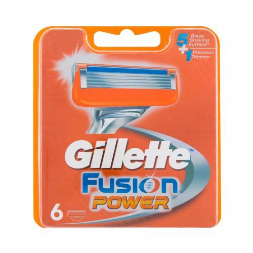 Gillette Fusion Power 6 ks náhradné ostrie pre mužov