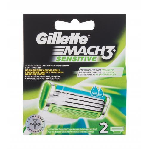Gillette Mach3 Sensitive 2 ks náhradné ostrie pre mužov