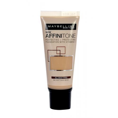 Maybelline Affinitone 30 ml zmatňujúci make-up pre ženy 03 Light Sand Beige