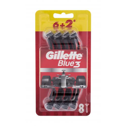 Gillette Blue3 Red 8 ks jednorazové holiace strojčeky pre mužov