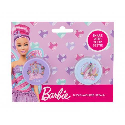 Barbie Barbie Duo darčeková kazeta pre deti balzam na pery Barbie + balzam na pery Unicorn