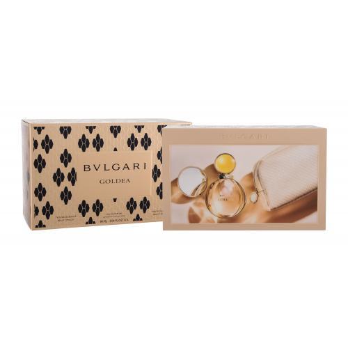 Bvlgari Goldea darčeková kazeta pre ženy parfumovaná voda 90 ml + kozmetická taštička + kozmetické zrkadlo