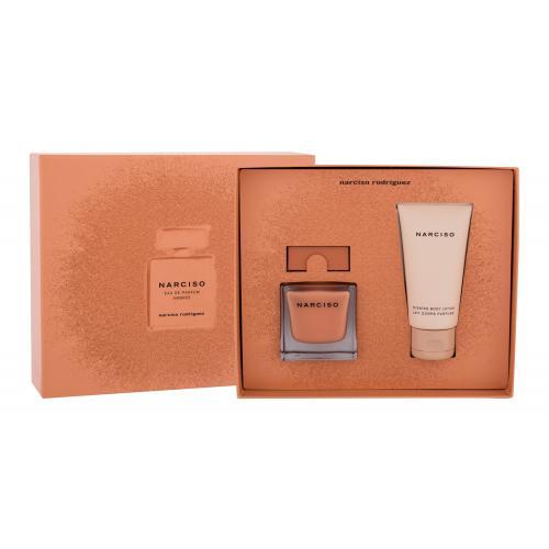 Narciso Rodriguez Narciso Ambrée darčeková kazeta pre ženy parfumovaná voda 50 ml + telové mlieko 50 ml