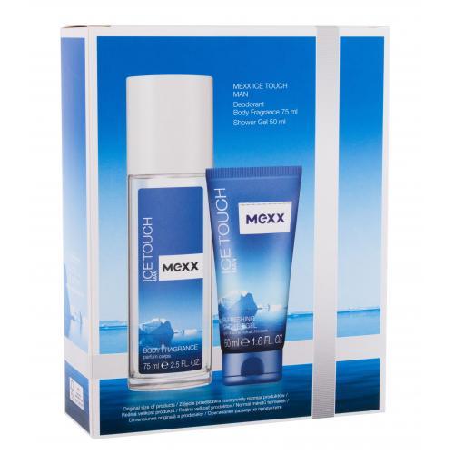 Mexx Ice Touch Man 2014 darčeková kazeta deospray pre mužov dezodorant 75 ml + sprchovací gél 50 ml