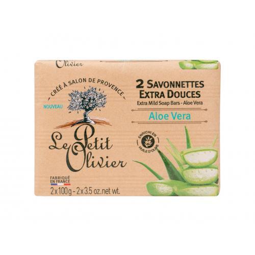 Le Petit Olivier Aloe Vera Extra Mild Soap 200 g prírodné tuhé mydlá pre ženy