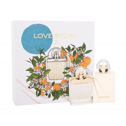 Chloé Love Story darčeková kazeta pre ženy parfumovaná voda 50 ml + telové mlieko 100 ml