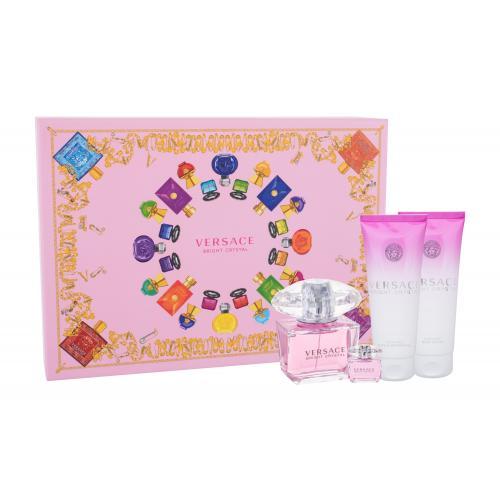 Versace Bright Crystal darčeková kazeta pre ženy toaletná voda 90 ml + toaletná voda 5 ml + telové mlieko 100 ml + sprchovací gél 100 ml