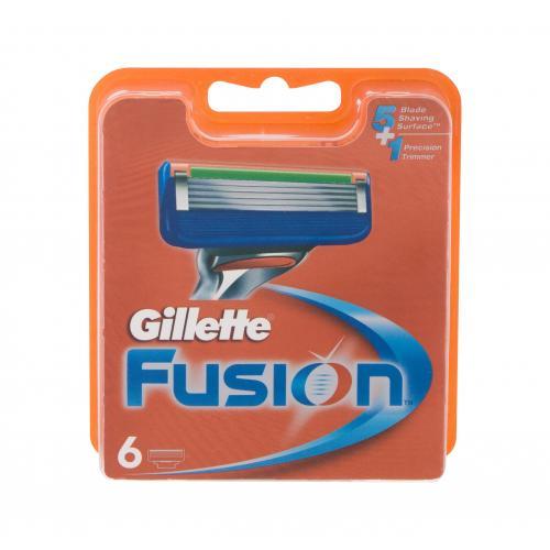 Gillette Fusion 6 ks náhradné ostrie pre mužov