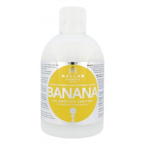 Kallos Cosmetics Banana 1000 ml hydratačný šampón pre suché vlasy pre ženy
