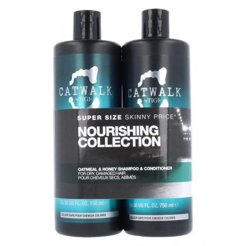 Tigi Catwalk Oatmeal & Honey darčeková kazeta pre ženy šampón 750 ml + kondicionér 750 ml
