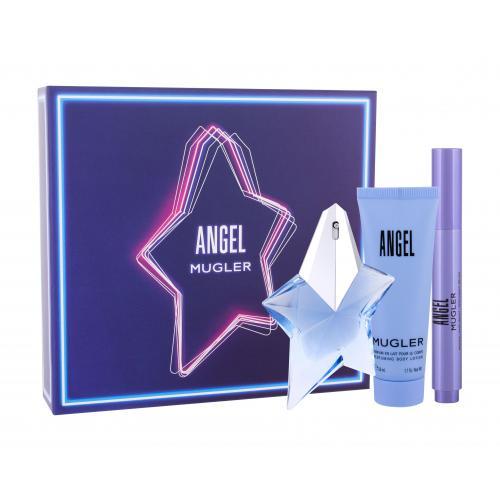 Thierry Mugler Angel darčeková kazeta pre ženy parfumovaná voda 25 ml + parfumovaná voda-štetec 7 ml + telové mlieko 50 ml