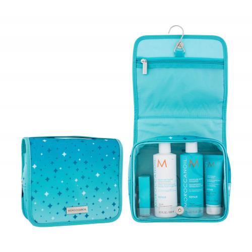 Moroccanoil Repair darčeková kazeta pre ženy šampón Moisture Repair Shampoo 250 ml + kondicionér Moisture Repair Conditioner 250 ml + maska na vlasy Restorative Hair Mask 75 ml + olej na vlasy Moroccanoil Treatment 25 ml + kozmetická taštička