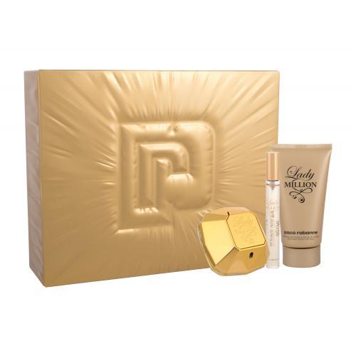 Paco Rabanne Lady Million darčeková kazeta pre ženy parfumovaná voda 50 ml + parfumovaná voda 10 ml + telové mlieko 75 ml