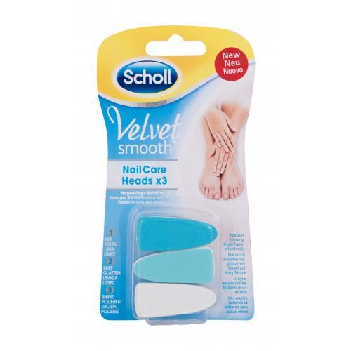 Scholl Velvet Smooth™ Nail Care Heads 3 ks náhradné hlavice do elektrického pilníka pre ženy