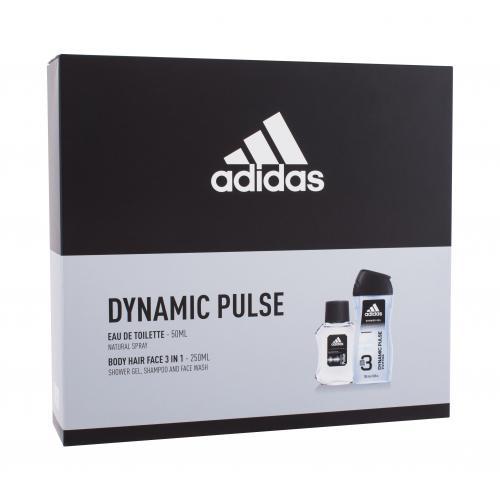 Adidas Dynamic Pulse darčeková kazeta pre mužov toaletná voda 50 ml + sprchovací gél 250 ml