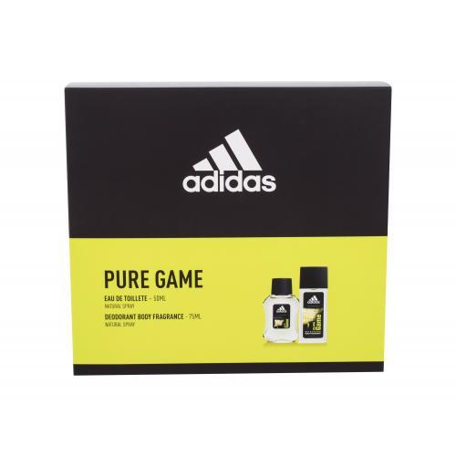 Adidas Pure Game darčeková kazeta poškodená krabička pre mužov toaletná voda 50 ml + dezodorant 75 ml