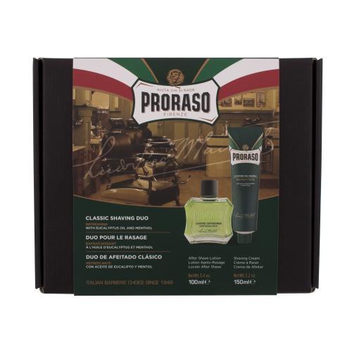 PRORASO Green Classic Shaving Duo darčeková kazeta pre mužov voda po holenie Green 100 ml + krém na holenie Green 150 ml