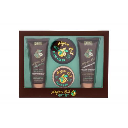 Xpel Argan Oil Gift Set darčeková kazeta pre ženy šampón Argan Oil 100 ml + kondicionér Argan Oil 100 ml + tuhé mydlo Argan Oil 50 g + maska na vlasy Argan Oil 50 g