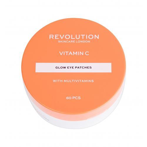 Revolution Skincare Vitamin C Glow Eye Patches 60 ks rozjasňujúce vankúšiky pod oči pre ženy