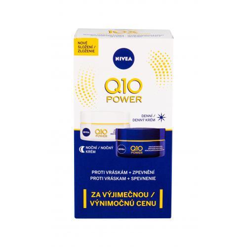 Nivea Q10 Power darčeková kazeta proti vráskam pre ženy denný pleťový krém 50 ml + nočný pleťový krém 50 ml