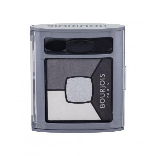 BOURJOIS Paris Smoky Stories Quad Eyeshadow Palette 3,2 g očný tieň pre ženy 01 Grey & Night