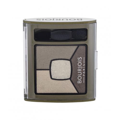 BOURJOIS Paris Smoky Stories Quad Eyeshadow Palette 3,2 g paletka očných tieňov pre ženy 04 Rock This Khaki