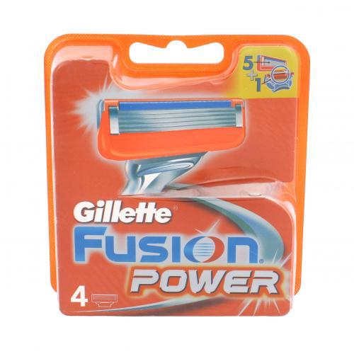Gillette Fusion Power 4 ks náhradné ostrie pre mužov