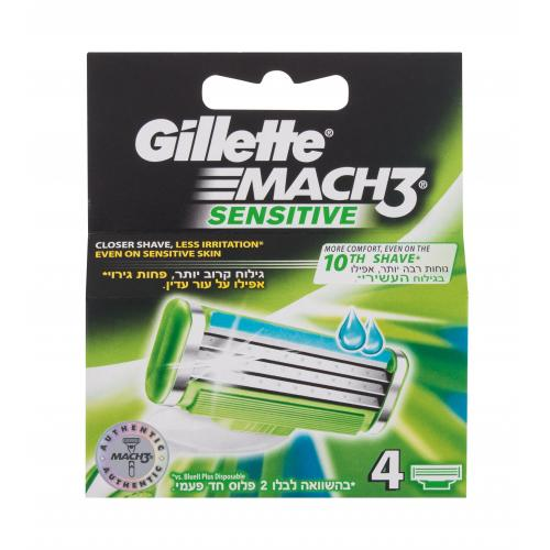 Gillette Mach3 Sensitive 4 ks náhradné ostrie pre mužov