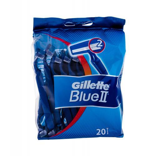 Gillette Blue II 20 ks jednorazové holiace strojčeky pre mužov