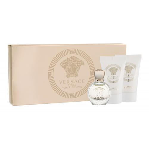 Versace Eros Pour Femme darčeková kazeta pre ženy parfumovaná voda 5 ml + sprchovací gél 25 ml + telové mlieko 25 ml miniatura