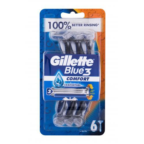 Gillette Blue3 Comfort 6 ks jednorazové holiace strojčeky pre mužov