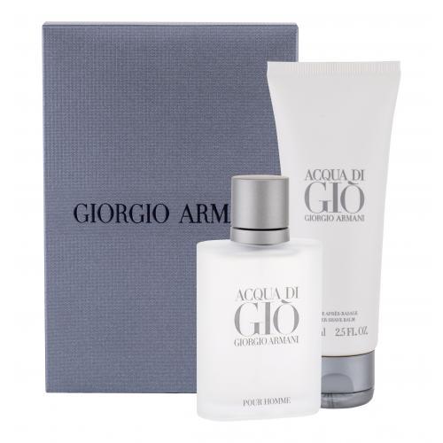 Giorgio Armani Acqua di Giò Pour Homme darčeková kazeta pre mužov toaletná voda 50 ml + balzam po holení 75 ml