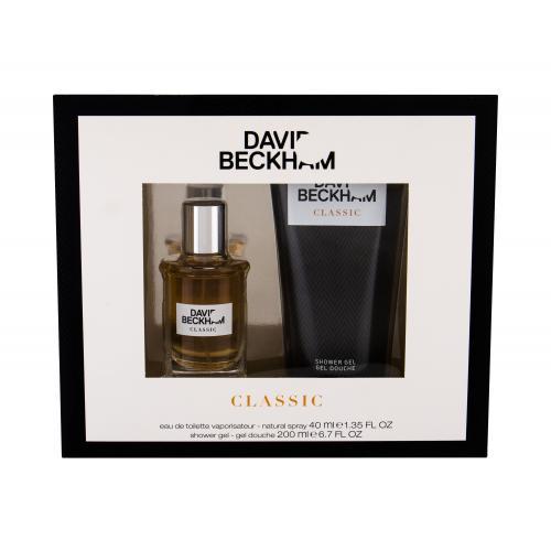 David Beckham Classic darčeková kazeta pre mužov toaletná voda 40 ml + sprchovací gél 200 ml