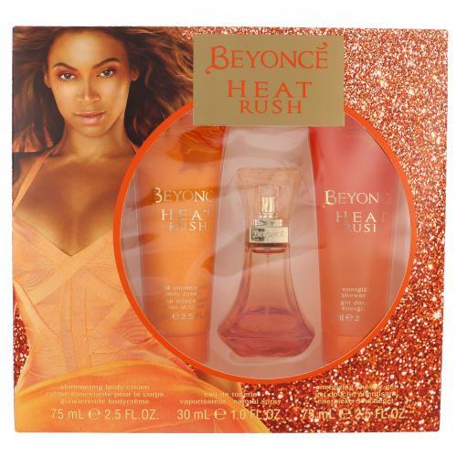 Beyonce Heat Rush darčeková kazeta pre ženy toaletná voda 30 ml + telový krém 75 ml + sprchovací gél 75 ml
