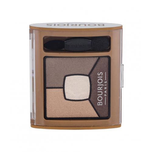 BOURJOIS Paris Smoky Stories Quad Eyeshadow Palette 3,2 g paletka očných tieňov pre ženy 06 Upside Brown