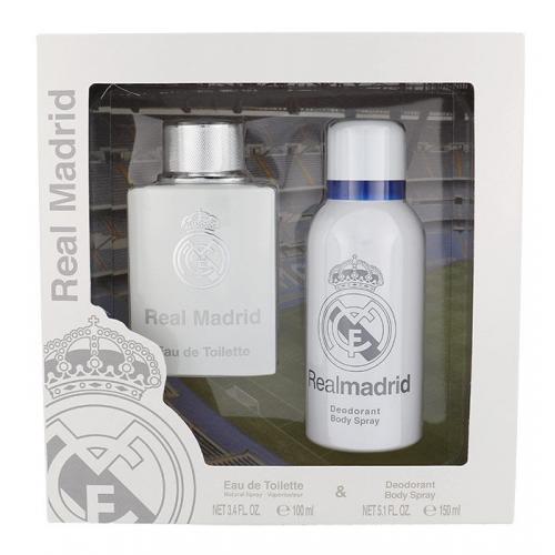 EP Line Real Madrid darčeková kazeta pre mužov toaletná voda 100 ml + deospray 150 ml