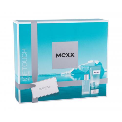 Mexx Ice Touch Woman 2014 darčeková kazeta pre ženy toaletná voda 15 ml + sprchovací gél 50 ml