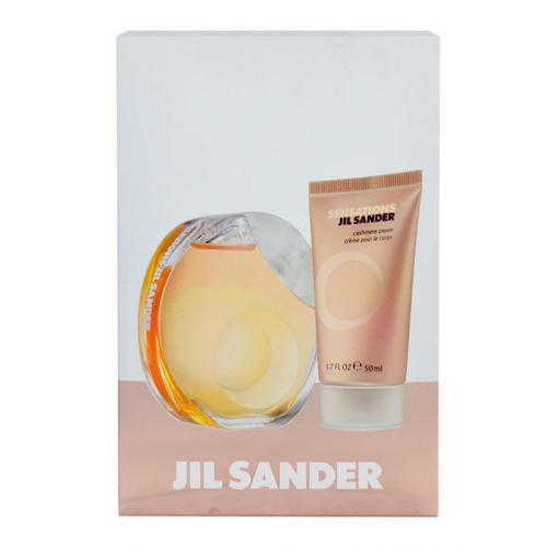 Jil Sander Sensations darčeková kazeta poškodená krabička pre ženy toaletná voda 40 ml + telový krém 50 ml