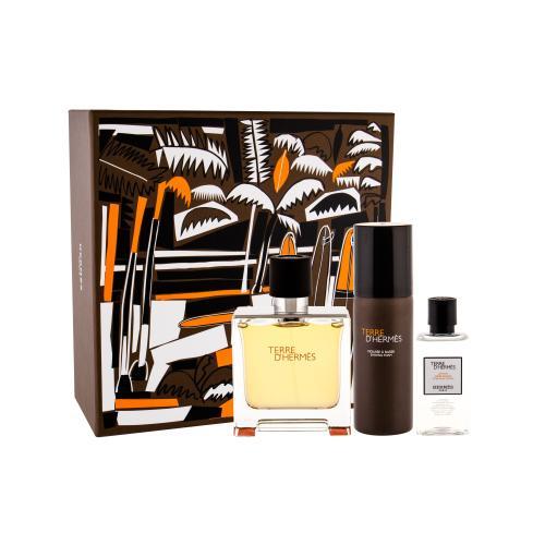 Hermes Terre D´Hermès darčeková kazeta pre mužov parfum 75 ml + voda po holení 40 ml + pena na holenie 50 ml