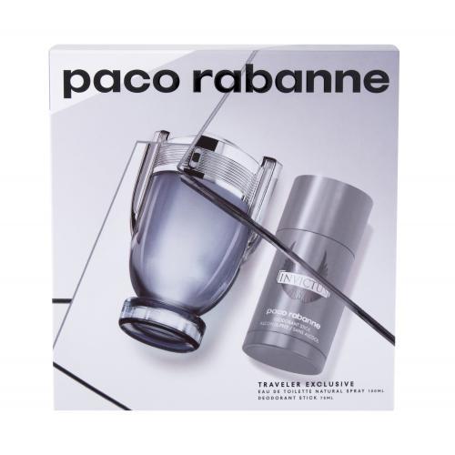 Paco Rabanne Invictus darčeková kazeta pre mužov toaletná voda 100 ml + deostick 75 ml