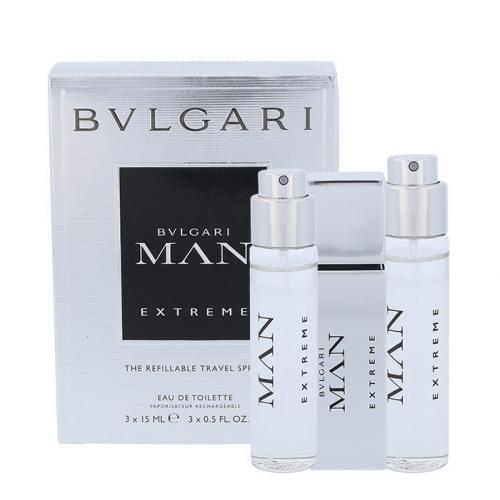Bvlgari Bvlgari Man Extreme 3x15 ml toaletná voda pre mužov miniatura