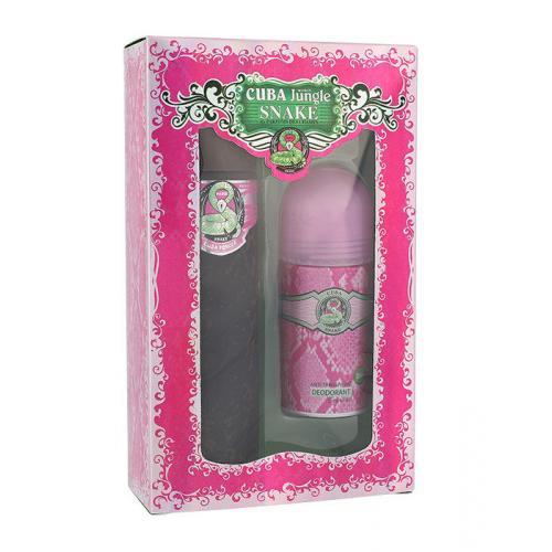Cuba Jungle Snake darčeková kazeta pre ženy parfumovaná voda 100 ml + dezodorant 50 ml