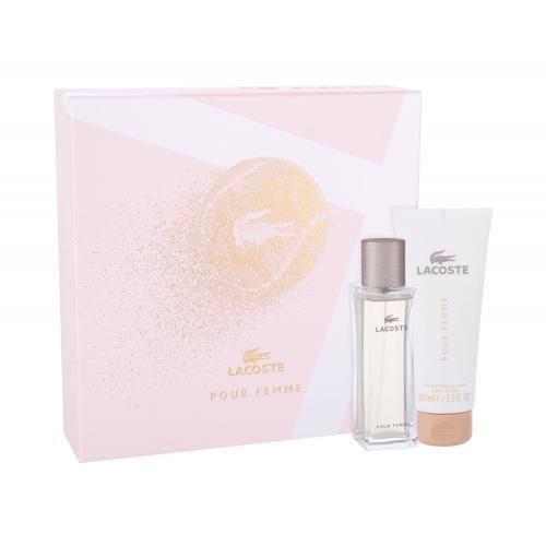 Lacoste Pour Femme darčeková kazeta pre ženy parfumovaná voda 50 ml + telové mlieko 100 ml