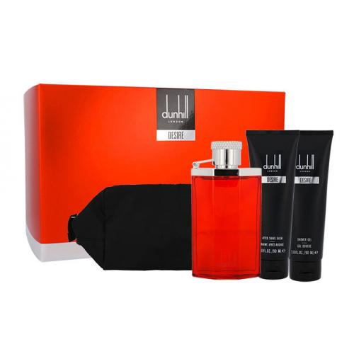 Dunhill Desire darčeková kazeta pre mužov toaletná voda 100 ml + sprchovací gél 90 ml + balzam po holení 90 ml + kozmetická taška