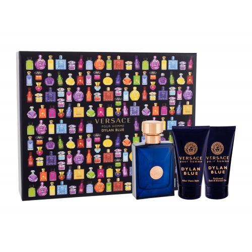 Versace Pour Homme Dylan Blue darčeková kazeta pre mužov toaletná voda 50 ml + sprchovací gél 50 ml + balzam po holení 50 ml