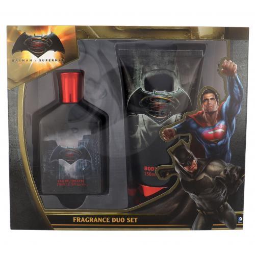 DC Comics Batman v Superman darčeková kazeta pre deti toaletná voda 75 ml + sprchovací gél 150 ml